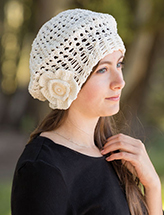 Lovers Knot Beret Crochet Pattern