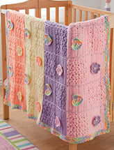 Hearts & Flowers Blanket Crochet Pattern