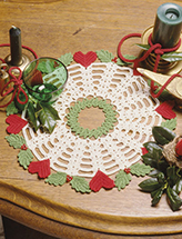 Hearts N Holly Doily Crochet Pattern