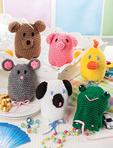 Critter Catch-Alls Crochet Pattern