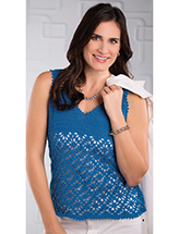 Blue Diamonds Tank Crochet Pattern