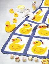 Just Ducky Afghan Crochet Pattern
