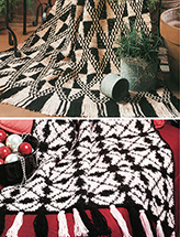 Graphic Afghans: Black & Cream Crochet Pattern