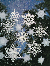 Crocheted Snowflakes Pattern