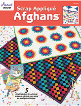 Scrap Applique Afghans Crochet Pattern