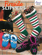 Fireside Slippers Crochet Pattern