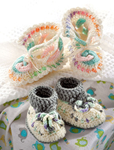 Mile-A-Minute Baby Booties Crochet Pattern