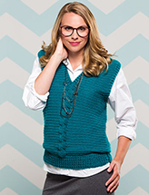 Cabled Sweater Vest Crochet Pattern
