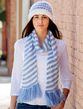 Crochet on the Double Scarf & Hat Pattern