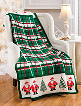 Santa Plaid Afghan Crochet Pattern