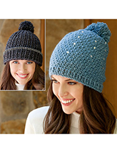 ANNIE'S SIGNATURE DESIGNS: Bling Beanies Crochet Pattern