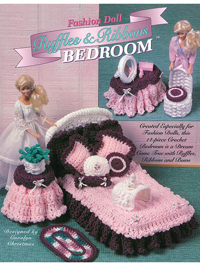Fashion Doll Ruffles & Ribbons Bedroom Pattern