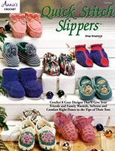 Quick Stitch Slippers Crochet Pattern