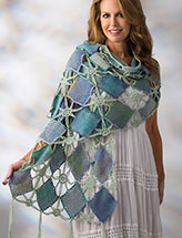 Spring Madras Shawl Crochet Pattern