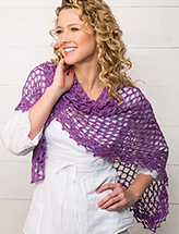 Lilac Dreams Shawl Crochet Pattern