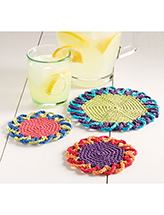 Loopy Flower Coasters Crochet Pattern