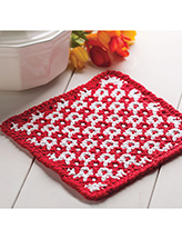 Woven-Look Hot Pad Crochet Pattern