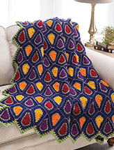 Autumn Prism Throw Crochet Pattern