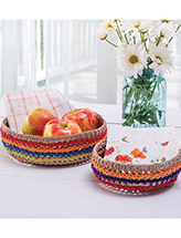 Zigzag Baskets Crochet Pattern