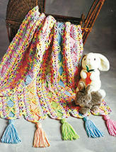 Bright Ribbons Mile A Minute Crochet Pattern