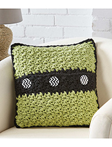 Button Accent Pillow Crochet Pattern