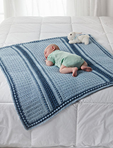 Little Boy's Blues Blanket Crochet Pattern