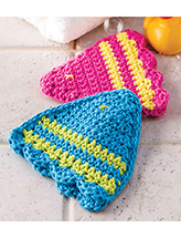 1 Fish, 2 Fish Bath Mitts Crochet Pattern