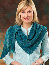 Picots & Leaves Shawlette Crochet Pattern