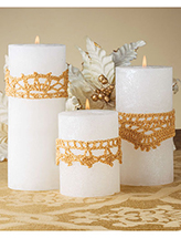 Candle Glitter Wraps Crochet Pattern