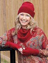 Sim Hat, Gloves & Scarf - Hat Crochet Pattern