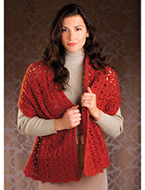 Winged Columns Shawl Crochet Pattern