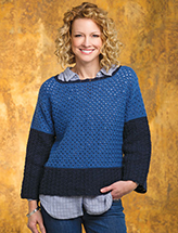 Color-Block Chic Pullover Crochet Pattern