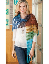 Crossover Shawl Crochet Pattern