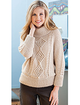 Top-Down Aran Pullover Crochet Pattern