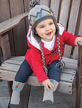 Baby Button Boot Socks & Hat Crochet Pattern