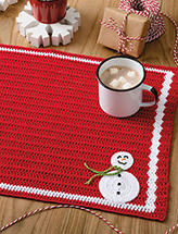 Frosty Friend Place Mat Crochet Pattern