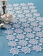 Snowflower Table Runner Crochet Pattern
