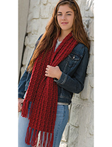 Red Scarf Crochet Pattern