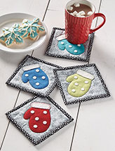 Woolly Mittens Coaster Set Quilt Pattern