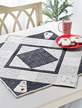 Snowman Table Topper Quilt Pattern