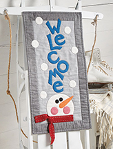 Winter Welcome Wall Hanging Quilt Pattern