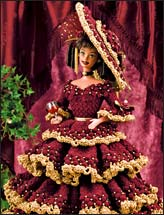 Wine and Roses Doll Dress