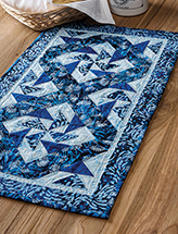 Winter Batik Runner Quilt Pattern