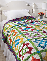 EXCLUSIVELY ANNIE'S: Nine-Patch Star Flower Quilt Pattern
