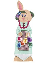 Miss Bunny Plastic Canvas Pat Pattern
