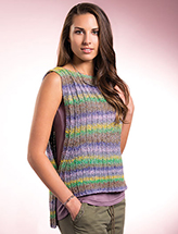 Openly On-Trend Tank Knit Pattern