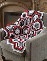 Winter's Eve Throw Crochet Pattern