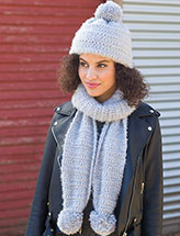 Soft as a Cloud Hat & Scarf Crochet Pattern