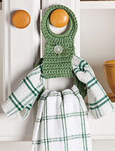 Double-Duty Towel Holder Crochet Pattern