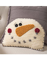 Snowman Pillow Crochet Pattern